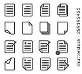 paper icon document icon vector ...