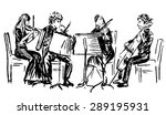 hand drawn sketch of musicians... | Shutterstock .eps vector #289195931