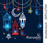 greeting card ramadan kareem... | Shutterstock .eps vector #289212704