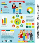 family infographics set with... | Shutterstock .eps vector #289212839