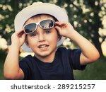 portrait of a cheerful little...   Shutterstock . vector #289215257