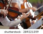 violin in the hands of a... | Shutterstock . vector #289221359