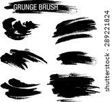 vector set of grunge brush... | Shutterstock .eps vector #289221824