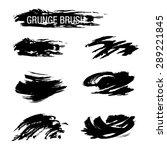 vector set of grunge brush... | Shutterstock .eps vector #289221845