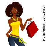 young african american woman... | Shutterstock .eps vector #289224689