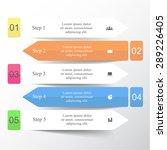 vector lines arrows infographic.... | Shutterstock .eps vector #289226405