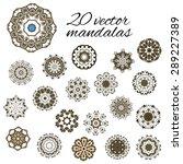 abstract design elements. set... | Shutterstock .eps vector #289227389