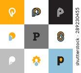 set of letter p logo templates... | Shutterstock .eps vector #289230455