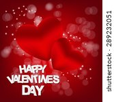 happy valentines day card. ... | Shutterstock . vector #289232051