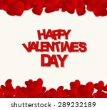 happy valentines day card. ... | Shutterstock . vector #289232189