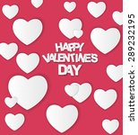 happy valentines day card. ... | Shutterstock . vector #289232195