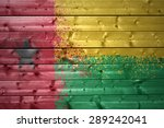 colorful painted guinea bissau...   Shutterstock . vector #289242041
