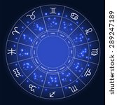 set of symbol zodiac sign. ... | Shutterstock . vector #289247189
