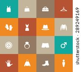 clothes icons universal set for ... | Shutterstock .eps vector #289249169