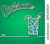 vector illustration of cocktail ... | Shutterstock .eps vector #289250519