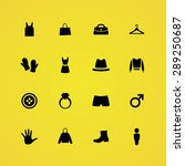 clothes icons universal set for ...   Shutterstock .eps vector #289250687