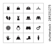 clothes icons universal set for ... | Shutterstock .eps vector #289251275