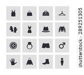 clothes icons universal set for ... | Shutterstock .eps vector #289251305