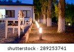 Row Of Illuminated Outdoor...