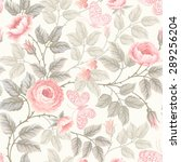 seamless pattern with roses and ... | Shutterstock .eps vector #289256204