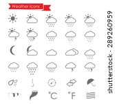 weather icons set | Shutterstock .eps vector #289260959