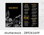 restaurant cafe menu  template... | Shutterstock .eps vector #289261649