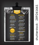restaurant cafe menu  template... | Shutterstock .eps vector #289261661