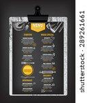 restaurant cafe menu  template... | Shutterstock .eps vector #289261661