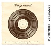 vector vinyl record on a paper...   Shutterstock .eps vector #289262219