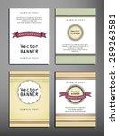 set of brochures in vintage... | Shutterstock .eps vector #289263581