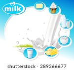 blue design with dairy products ... | Shutterstock .eps vector #289266677