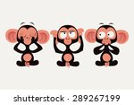 three wise monkeys vector...