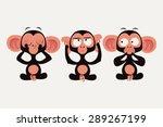 Постер, плакат: Three wise monkeys vector