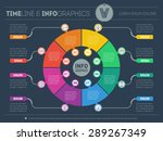 web template for circle diagram ... | Shutterstock .eps vector #289267349