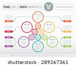 web template of a pyramidal... | Shutterstock .eps vector #289267361