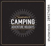 set of vintage summer camp... | Shutterstock .eps vector #289274084