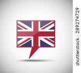 english flag speech bubble | Shutterstock .eps vector #289274729