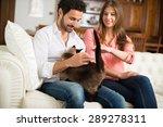 portrait of an happy couple... | Shutterstock . vector #289278311