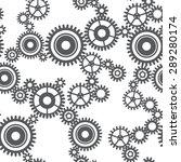 seamless pattern of gear wheels ... | Shutterstock . vector #289280174