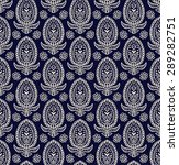 paisley seamless pattern  hand... | Shutterstock .eps vector #289282751