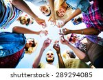 celebration champagne looking... | Shutterstock . vector #289294085