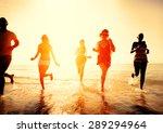 friendship freedom beach summer ... | Shutterstock . vector #289294964