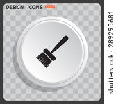 white circle  white button on a ...   Shutterstock .eps vector #289295681