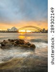 sunset at opera house and...