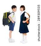 full body shot of asian primary ... | Shutterstock . vector #289309535