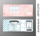 2 style movie ticket vector... | Shutterstock .eps vector #289311545