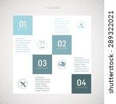 info graphic  4 lines | Shutterstock .eps vector #289322021