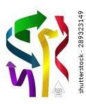 vector colored arrows icon set.   Shutterstock .eps vector #289323149