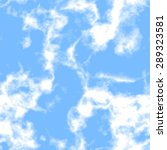 abstract white clouds on blue... | Shutterstock . vector #289323581