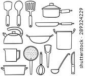 vector set of kitchen tool | Shutterstock .eps vector #289324229